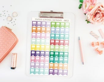 72 Read Stickers | School Stickers | Homework Stickers | Planner Stickers designed for use with the Erin Condren Life Planner | 0812