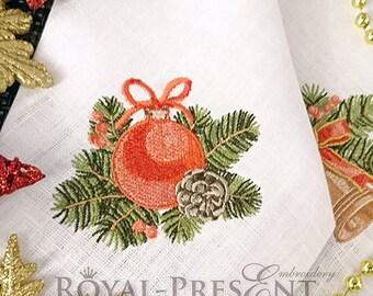 Machine Embroidery Design - Vintage Christmas ball