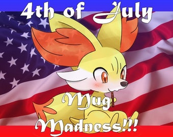 FOURTH OF JULY Mug Madness!! Buy a custom mug today and receive it on time ;) July 4th