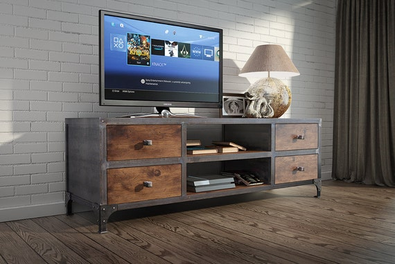 tv bank tv bench by wunderartshop on etsy. Black Bedroom Furniture Sets. Home Design Ideas