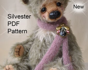 PDF Teddy bear pattern, 13 inches (33 cm) + Gift