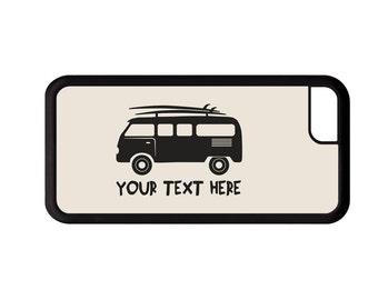 Surfing Van Personalized Phone Case - iPhone 7, 6, 6s Plus, 5c, 5 5s SE, Galaxy S8 S8 Plus S7 S6 Edge S5 cover rubber bumper, surf board
