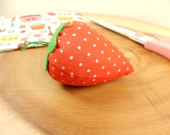 Fabric Strawberry Pin Cushion, Sew Tool, Sewing Essential, Sewing Kit