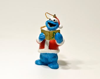 Vintage,Singing,Cookie Monster,Christmas Ornament, Resin ornament,Jim Henson,1993