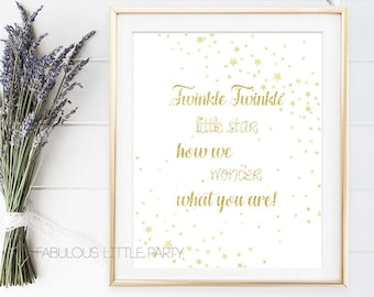 Gender Reveal Sign, Twinkle Twinkle Little Star How We Wonder What You Are, Pregnancy Photo shoot props, Baby Shower, It's a Boy Girl Who
