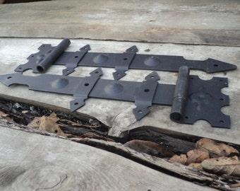 """Hinges - New Loop """"arrow"""" - steel hinges - hardware - hinges - Dekor door - Antique cycle"""