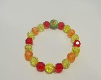 Fall Leaves Beaded Stretch Bracelet/ Birthday Gift/ Gifts for her/ Gifts for Girls/ Girls Bracelets/ Kids Bracelets