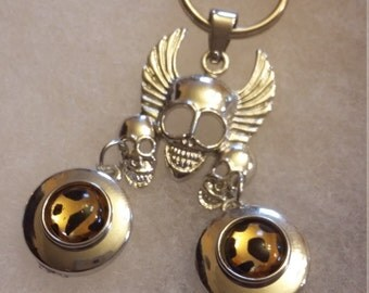Highway to hell Skull key chain