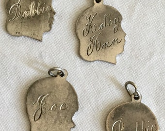 Sterling silver charms commerate babies birth vintage