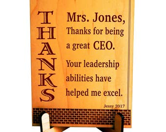 Gift to my CEO, Executive Director Appreciation Gift, to Supervisor, Manager Custom Gift, Thank you Gift to my Boss, Desk top decor, PBA010