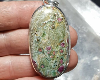 Ruby in Zoisite Pendant