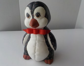 Vintage Ceramic Penguin Figurine Christmas Decor