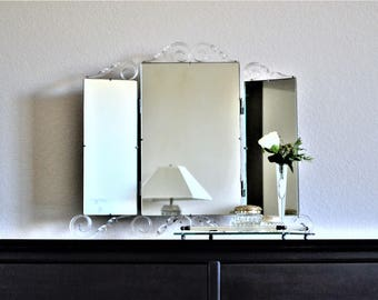 Tri Fold Wall Mirror antique vanity mirror tri fold mirror dressing table