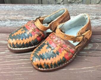 Vintage Baby Huaraches - Leather Huarache Sandals - Toddler Huaraches - Marca de Calidad - Pelco Sandals