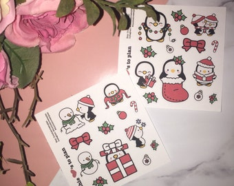 Sample stickers | Christmas penguin