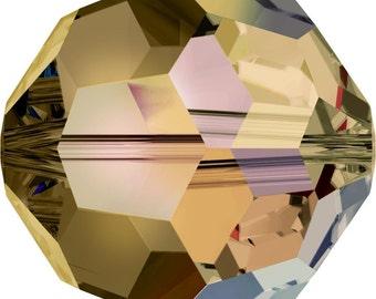Swarovski Crystal Round Beads 5000 - 3mm 4mm 6mm 8mm 10mm - Light Colorado Topaz AB