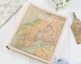 Personalised Vintage Map Photo Album