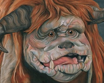 Labyrinth Ludo Oil Painting Print
