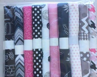 Fat quarter bundles of 20 each - 3 color lines