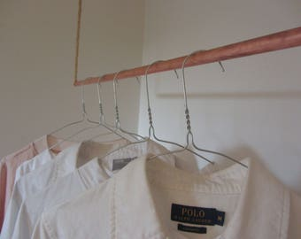 Hand-made Industrial Clothes Rail, Hanging Rail