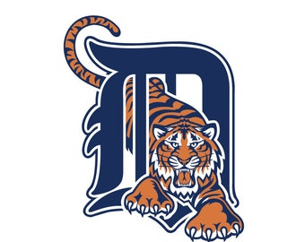 Detroit Tigers Logo Vinyl Decal Many Sizes Available Buy 2 get 1 free of equal or lesser size!