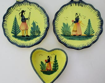 French Quimper Accents, Set of 3