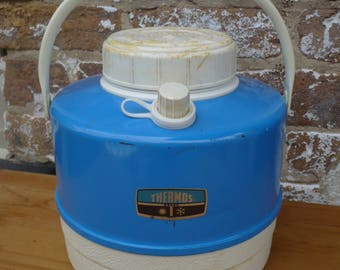 Thermos Picnic Jug Cooler ,Blue and White