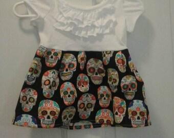 Girls size 0-3 months sugar skull dress.