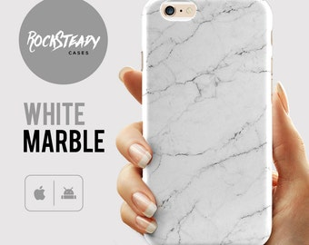 White Marble Phone case, iPhone 7, 7 Plus Cover, 6, 6s Case, SE, 5S, 5C Case, Samsung Galaxy S7, S6, S5, S4 Cell Phone Case