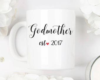Godmother mug, godmother gift, godmother present, godmother, baptism gift, baptism mug, christening mug,