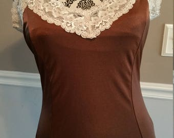 The Limited. Made in USA. Camisole. Chocolate Brown Spandex. Size Large