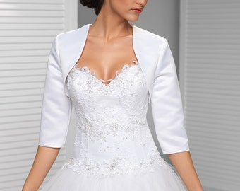 Reserved 3/4 sleeved Satin Bridal Bolero Jacket