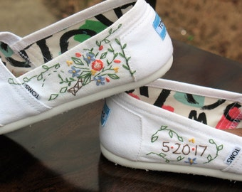 toms shoes women, embroidered shoes, wedding flats shoes, personalized shoes, custom toms, wedding toms, custom wedding shoes, wedding shoes