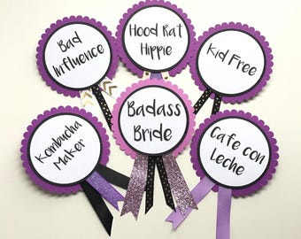 Bridal Shower Bachelorette Party Pins