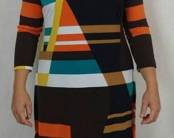 Abstract Dress, Art deco Dress, Stretch Dress, Maxi Dress, Evening Gown