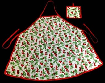 Strawberry Apron and Pot Holder