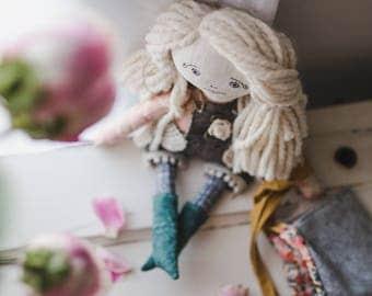 Handmade Doll//Pixie Doll//Ethical toy//Woodland//Doll//Rag Doll
