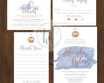 Watercolor Wedding Invitation, Classic Wedding Invitations, Elegant Wedding Invitation, Custom Wedding Invite, Modern Wedding Invitation