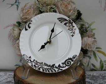 Vintage crockery clock - wall clock - gift Ideas -