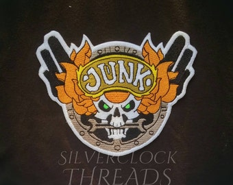 Sew-on patch - Overwatch Junker D.Va skin jacket back logo inspired embroidery -  18 cm / 7 in - costume and cosplay prop
