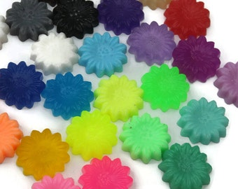 Bulk Mini Soaps - Guest Soap - Decorative Soap - Hostess Gift - Bulk flower Soaps - Soap Set - Baby Shower Favor - Custom color - Scent