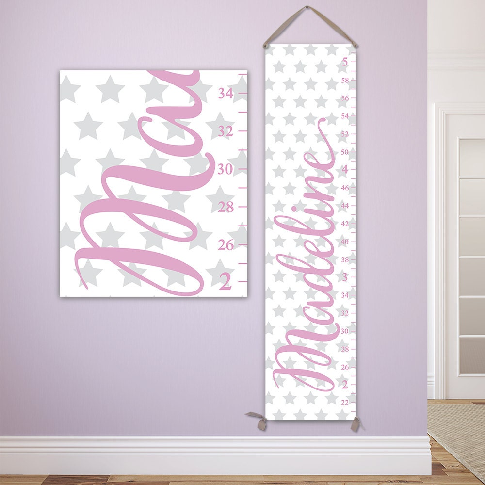 Personalized growth chart for girls with stars design perfect personalized growth chart for girls with stars design perfect for star nursery canvas growth chart girls growth chart gc6335w nvjuhfo Image collections