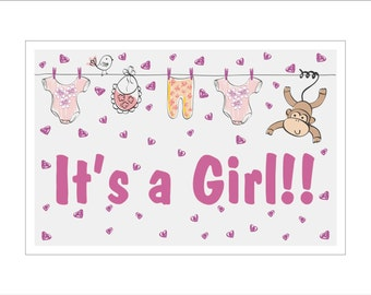 It's a Girl!! yard sign - New Baby Decorations - Baby Girl - Baby Shower Sign