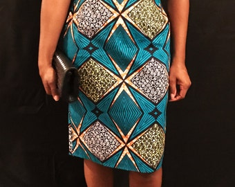 African Wax Print Pencil Skirt