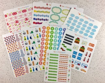 B002 - Planner Sticker Bundle - 9 Discontinued Sticker Sheets