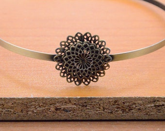 5pcs antique bronze Headbands,hairbands with a filigree wrap base 5mm metal headband