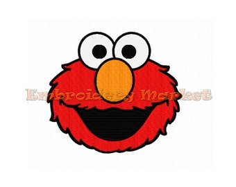 cute elmo embroidery design for machine. fill stitches. Instant Download. 3 sizes.