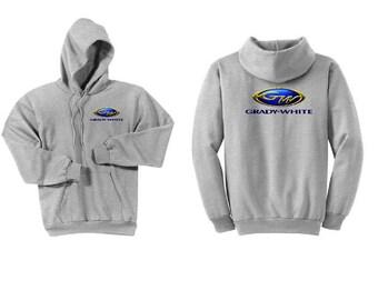 Grady White Boats Ash Grey Hoodie Sweatshirt