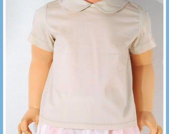 Peter Pan Collar Shirt, Baby Peter Pan Collar, Baby Boy Peter Pan Shirt
