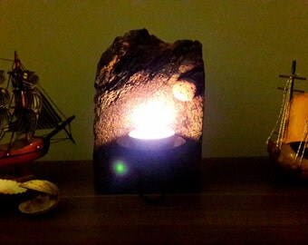 rustic wood candleholder,decorative candleholder,handmade candleholder, wood candleholder